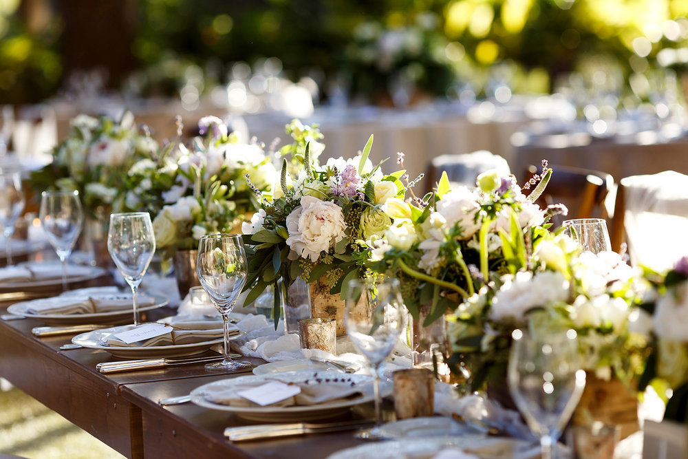 lavender accented table
