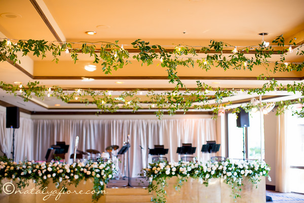 floral wedding stage