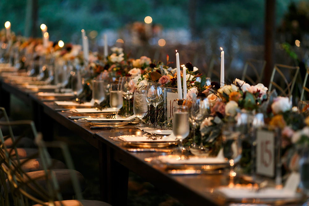 candlelit table