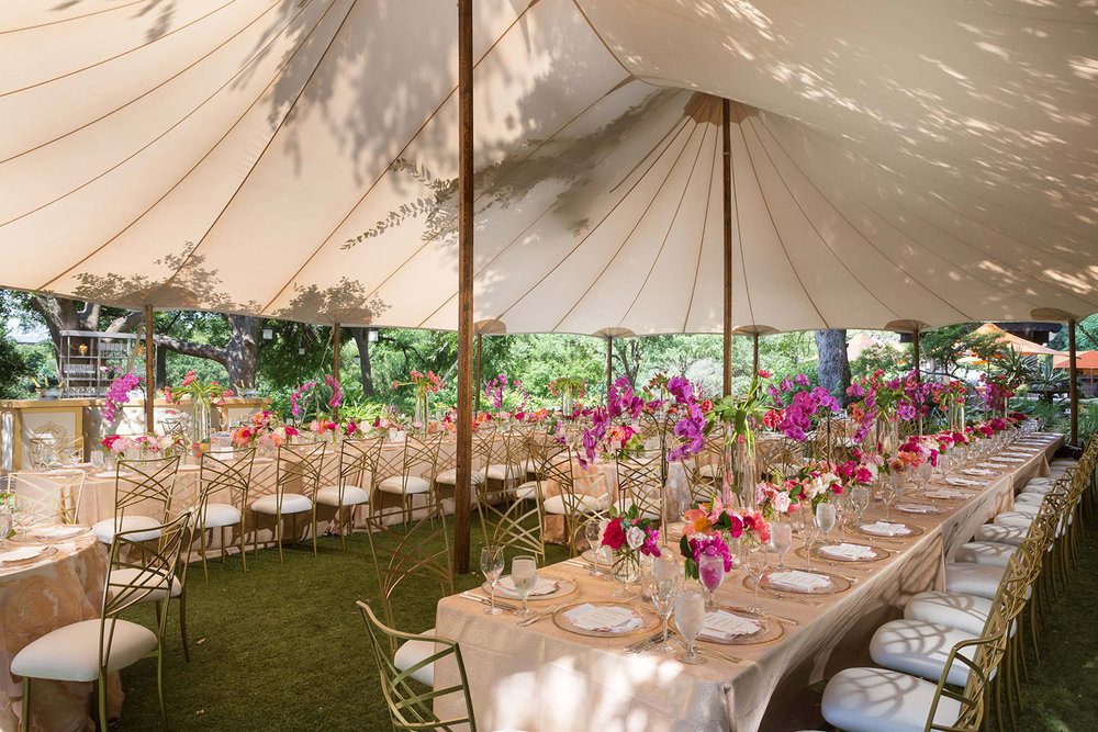 tented reception seating