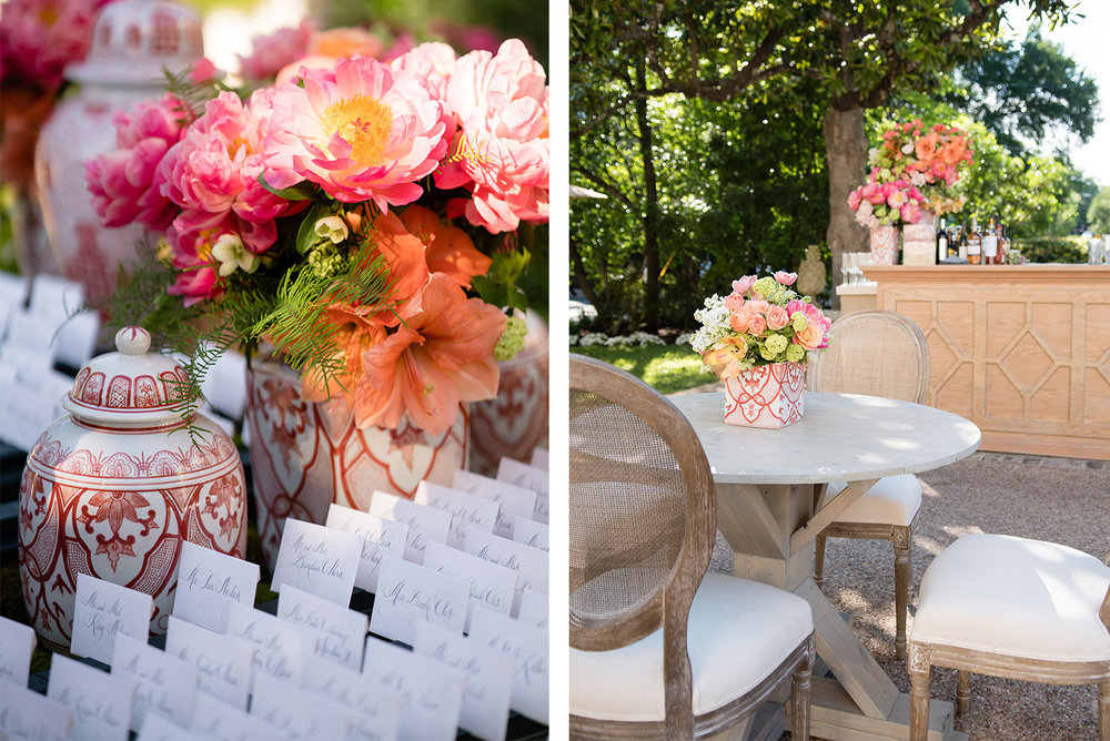 elegant spring reception
