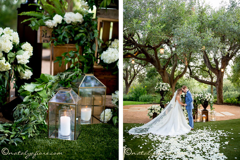 lush green wedding