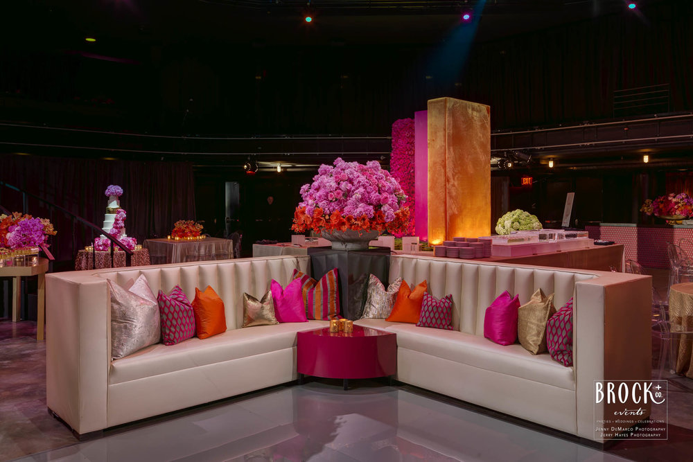elegant pink lounge