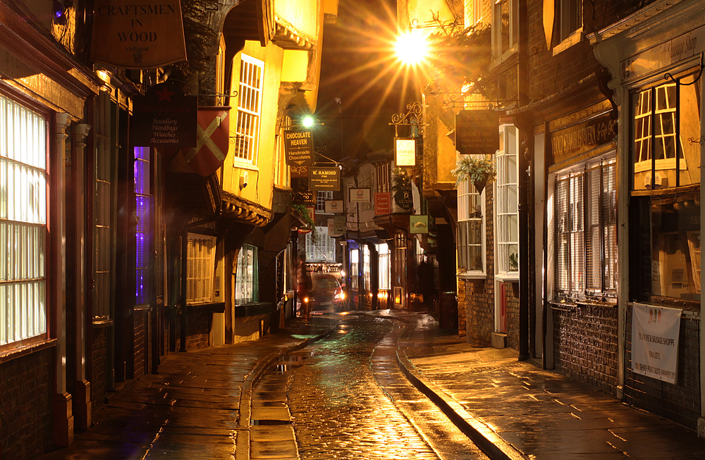 Old street in York town (The Shambles)
