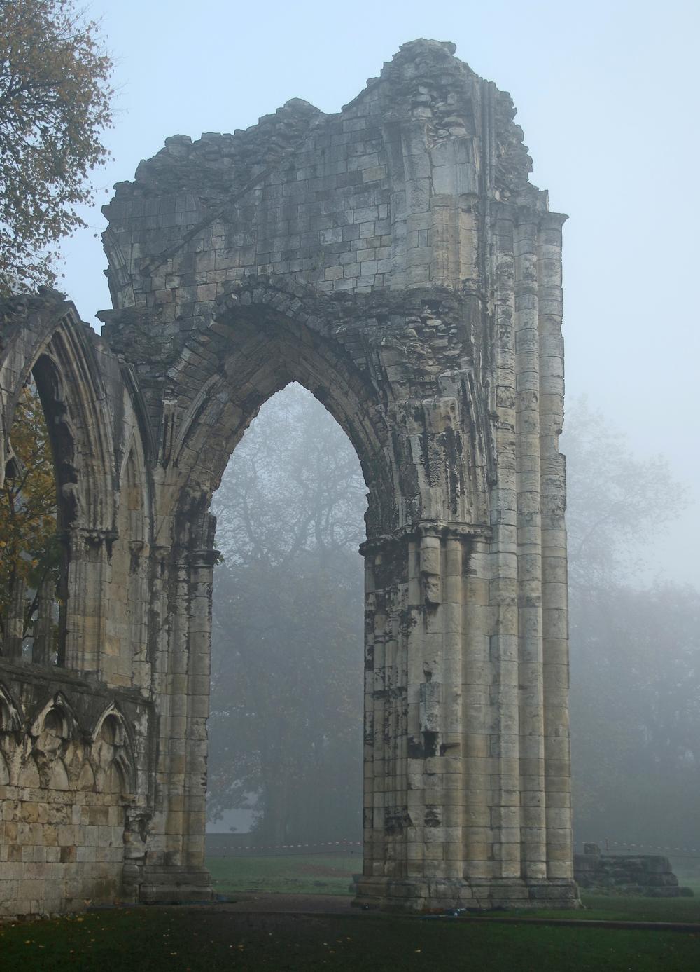 Misty ruin