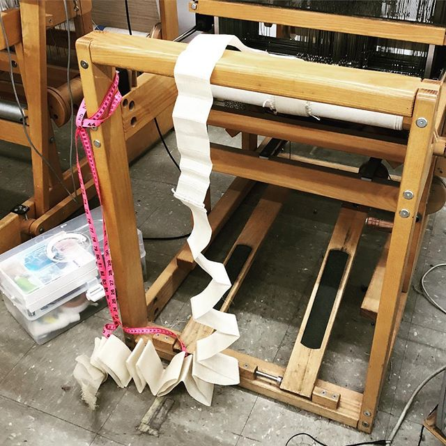 Folds! Fresh off the loom #loom #folds #weave @designweekpdx #designweekpdx