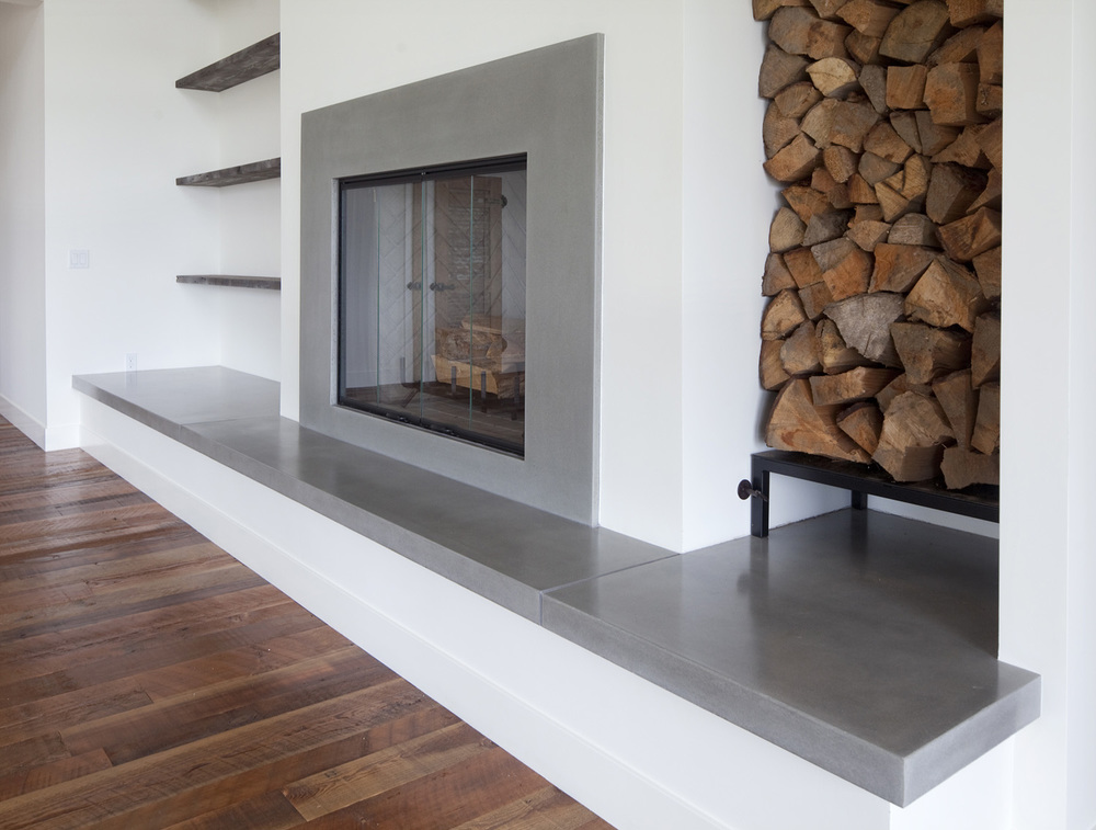 Fireplaces sound concrete for Concrete mantels and hearths