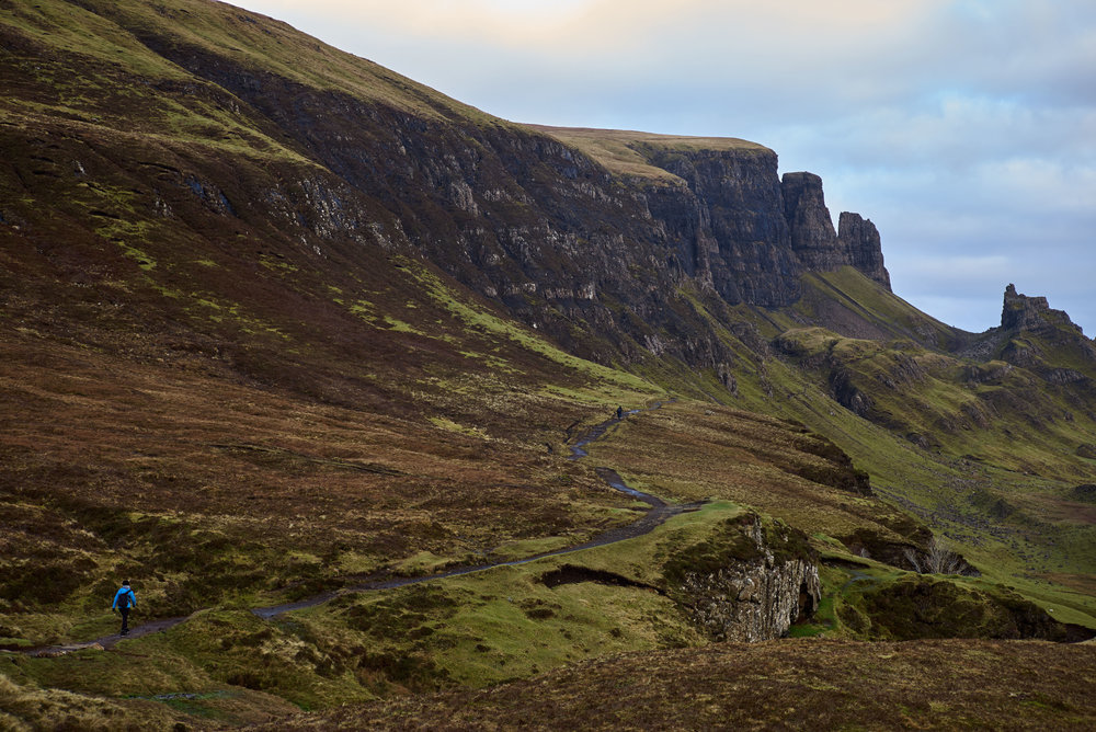 The start of the Quiraing hike