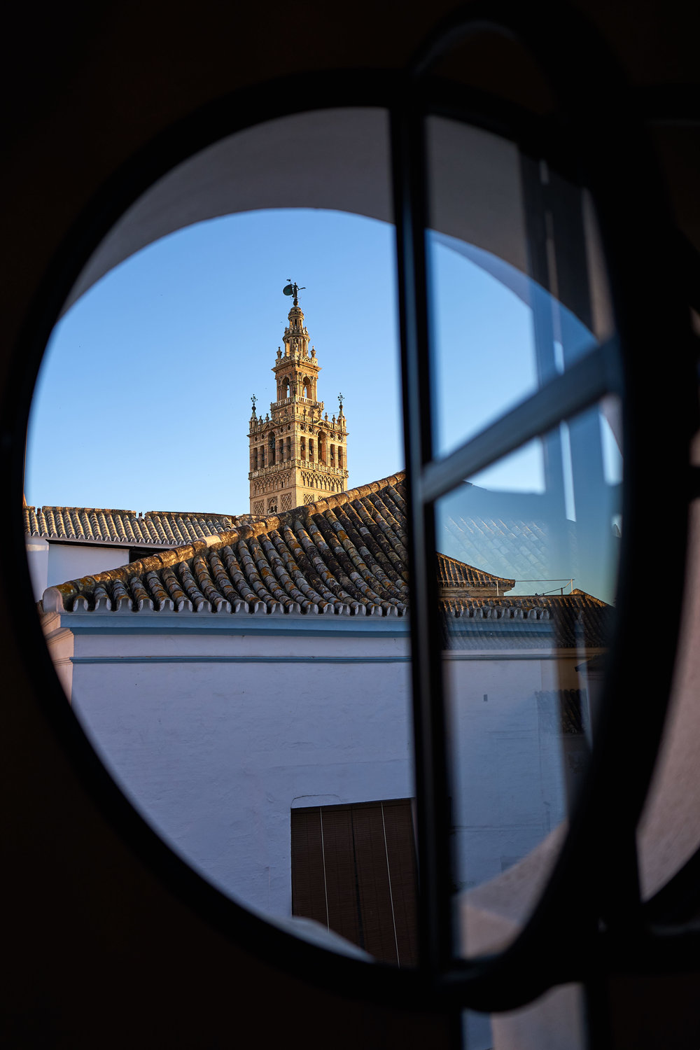 The Sevilla Giralda Tower from our hotel bedroom window - Leica Q