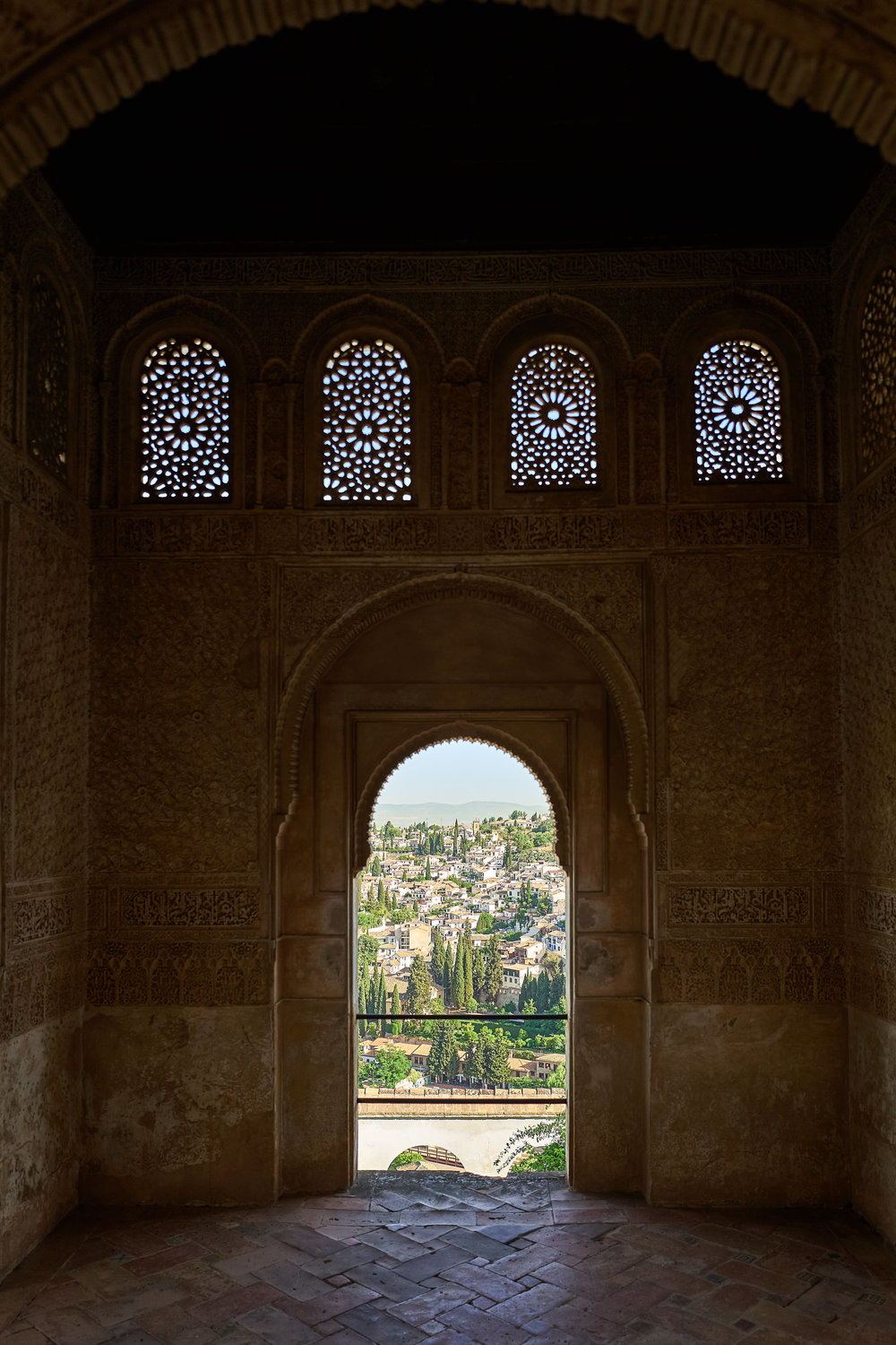Granada as seen from one of the rooms in the Generalife - Leica Q