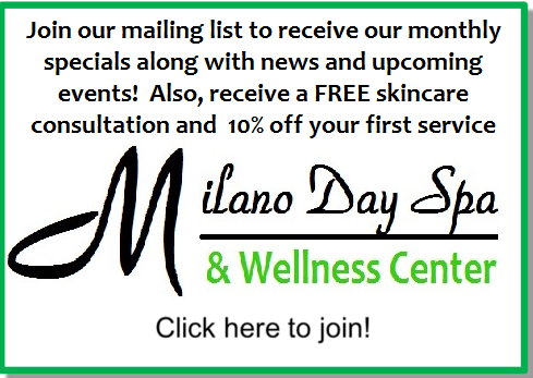 milano day spa mailing list cta