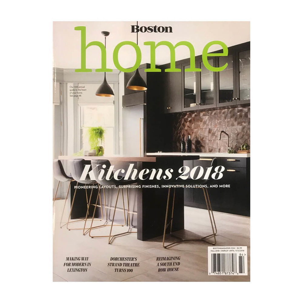 BOSTON HOME MAGAZINE COVER | FALL 2018