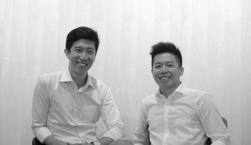 Co-founders of Yeng & Leong: Jason Lim (L) and Vincent Lim (R).
