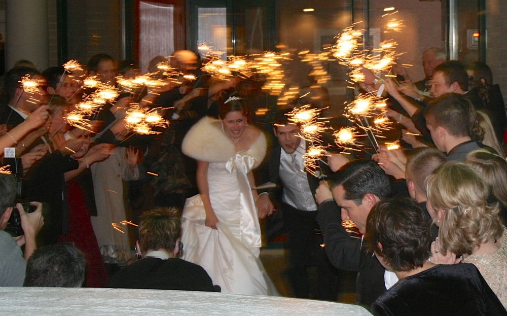 "and they did a sparkler exit before sparkler exits were a ""thing."""