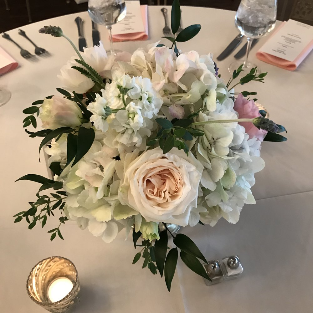 Beautiful centerpieces by Stacy Molander of Rusted Window Flowers