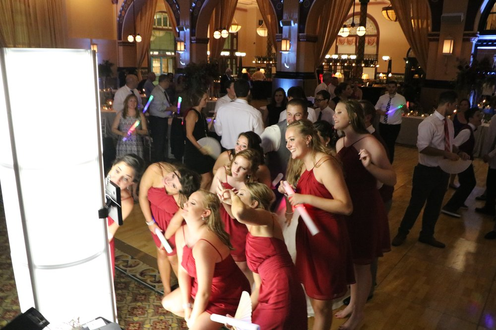 Diana & Nick's guests loved the iPad Selfie Station - ask Jim about it for your big day!
