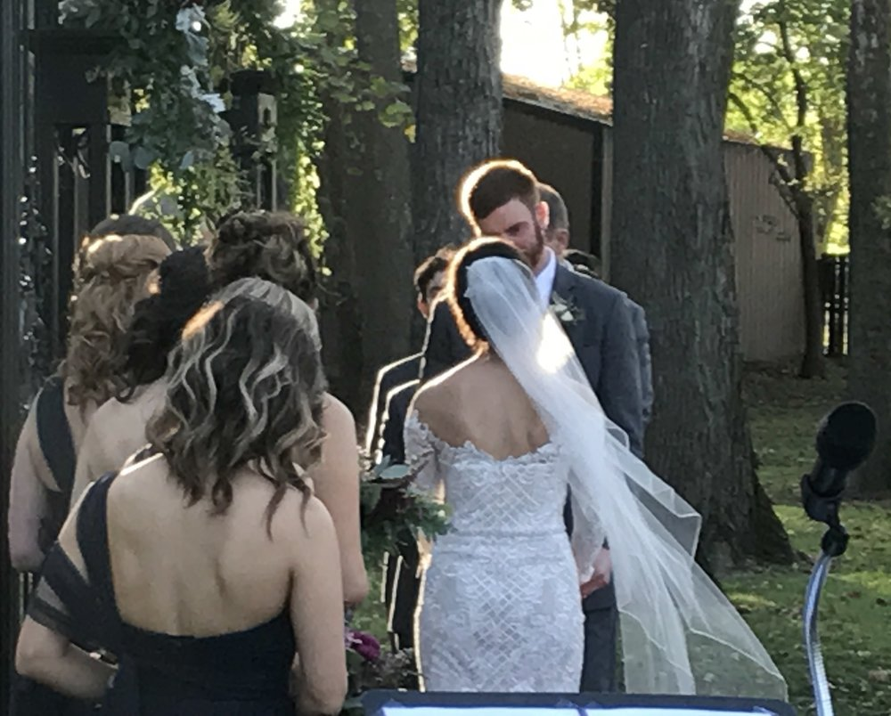 When its 70 degrees and the sun creates a halo around you at the exact moment you say your vows? Yeah, it was like that.