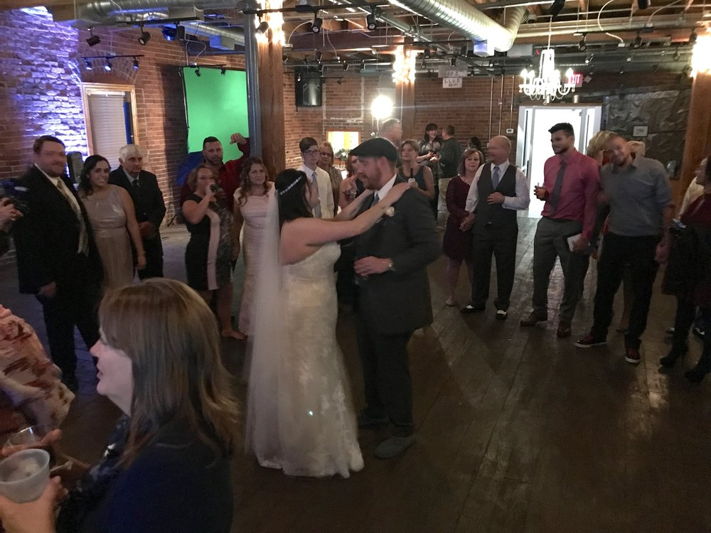 "Kristen & Mark's last dance singng every word of ""My List"" to each other!"