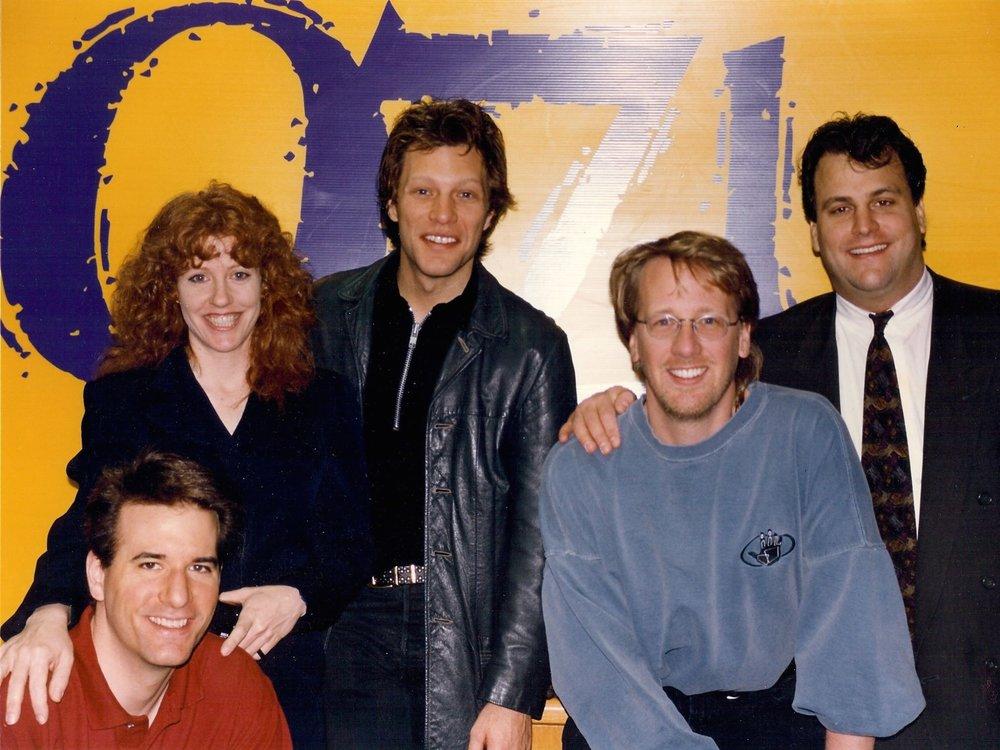 "Jim with Jon Bon Jovi ""Livin' on a Prayer"""