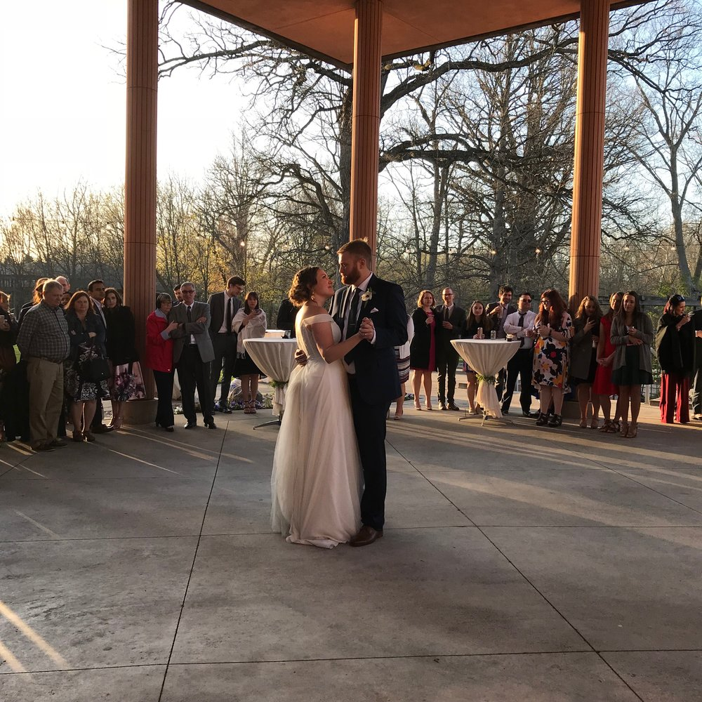 """With You"" by Waxahatchee was Claire & Kurt's 1st dance perfectly timed at sunset!"