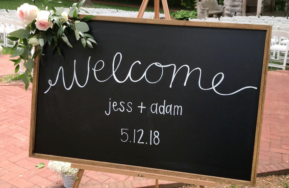 Welcome sign by DJ Jim Cerone
