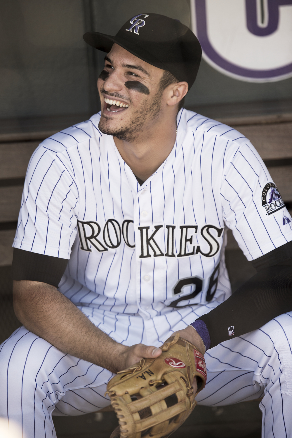 Colorado Rockies third-baseman Nolan Arenado prepares for the final home game of the 2015 season