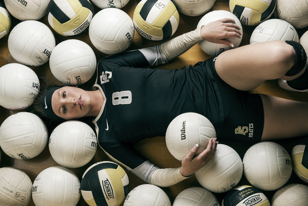 Portrait of All-State Volleyball Player