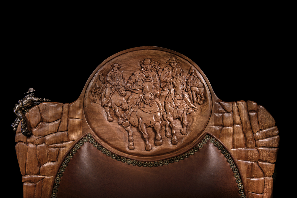 "Hand Carved ""Outlaw"" Chair"