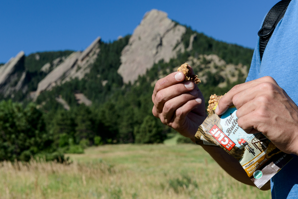 Lifestyle product shot for new Clif Bar nut butter bars