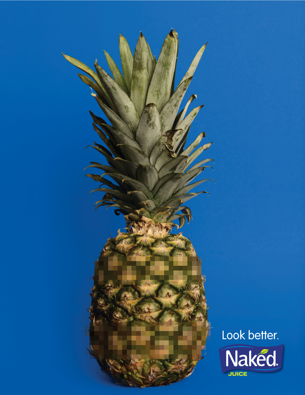 Still life advertising spec work of a pineapple - Naked Juice