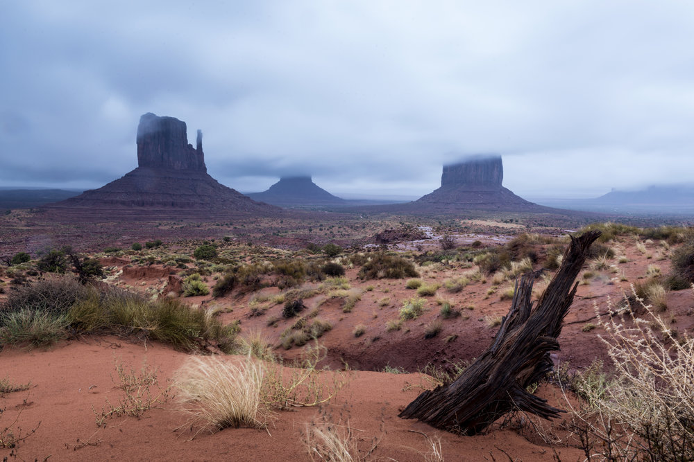Monument Valley cloudy and stormy