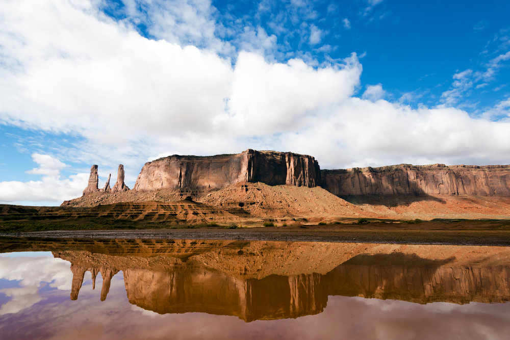 Monument Valley reflection