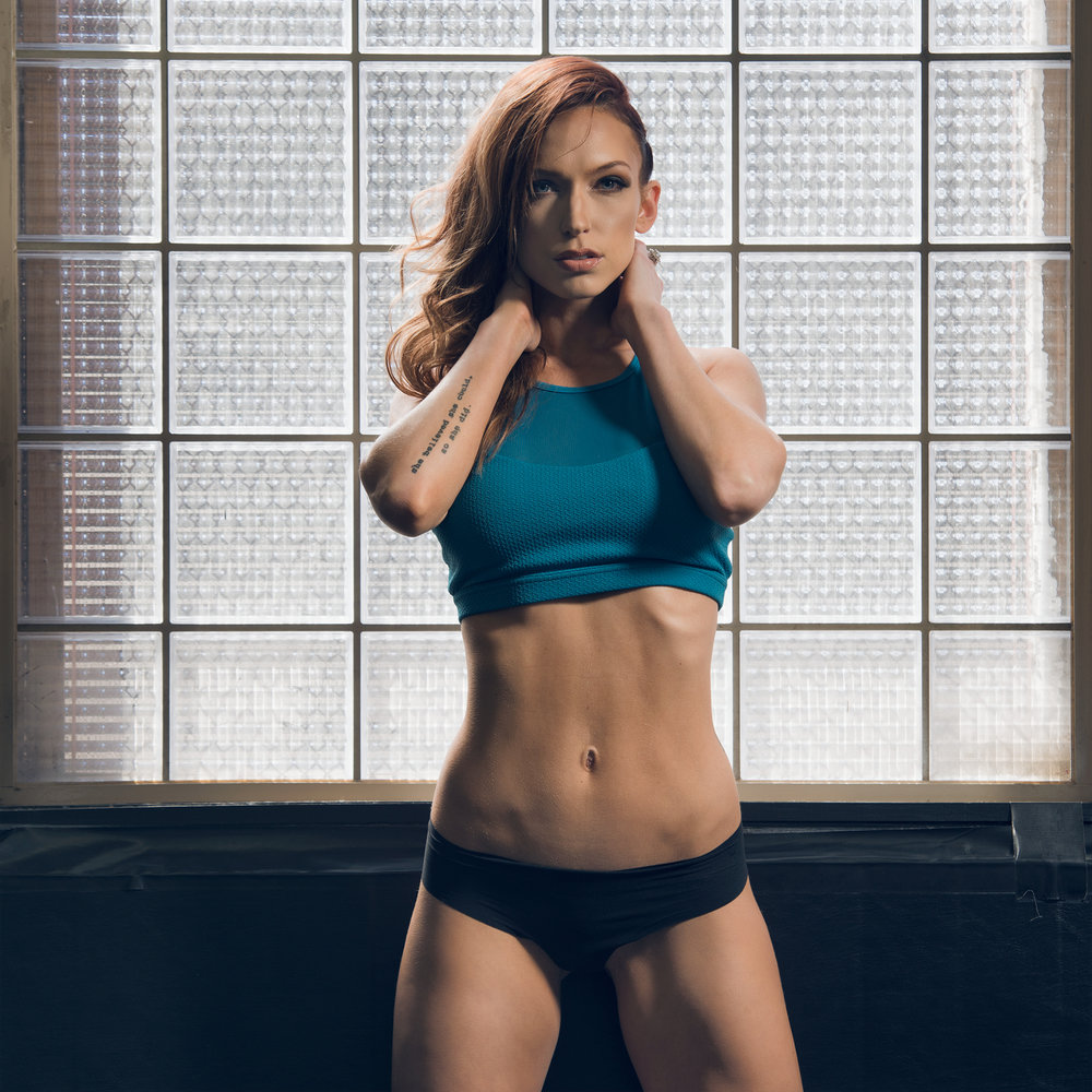 Commercial photo of trainer and fitness model Alysha White in Denver, CO