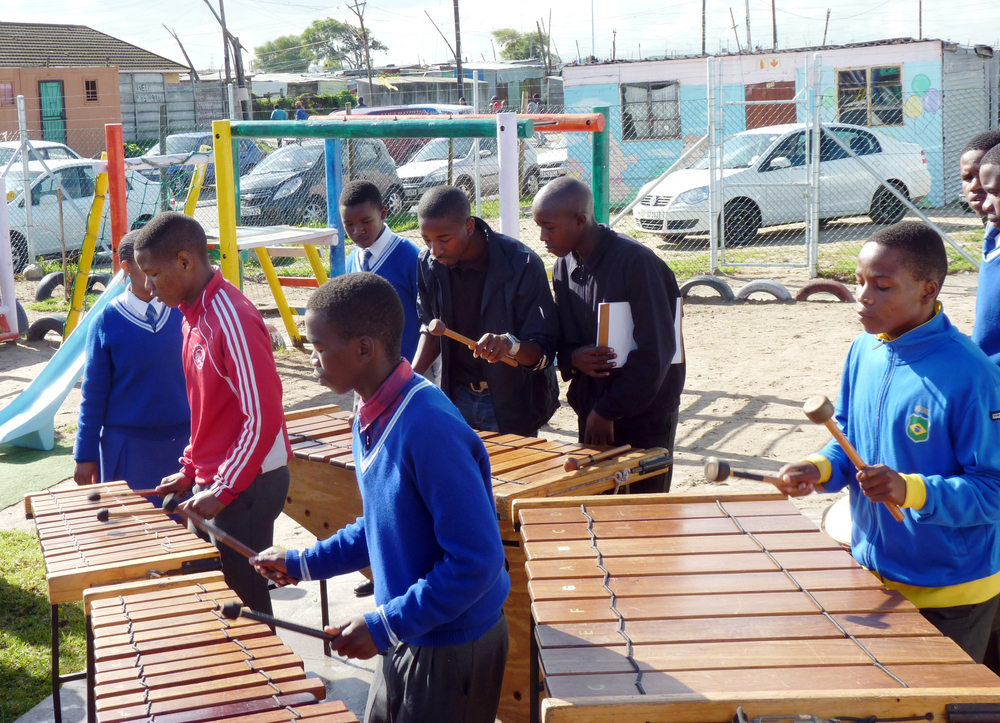 Marimba players from after-school programs