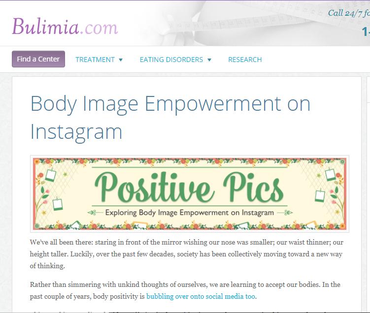 Positive Pics: Exploring Body Image Empowerment on Instagram    on Bulimia.com