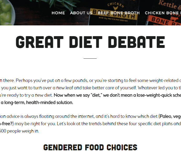 Great Diet Debate    on Kettle & Fire