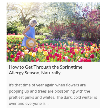 How to Get Through the Springtime Allergy Season, Naturally    on The International Association of Wellness Professionals