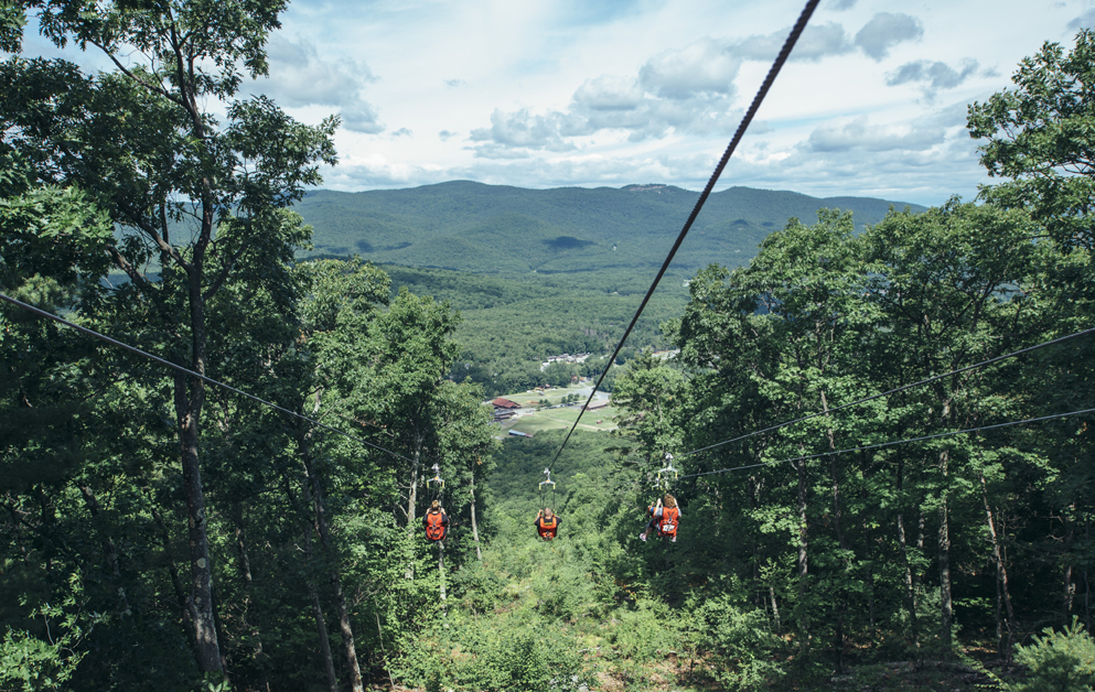 Zip-lining  - Eagle Flyer Soar above the treetops as high as 125 feet off the ground, with unsurpassed views of Lake George and the spectacular Adirondack Mountains. Only a 20 minute drive, we are again happy to drive you there and back.