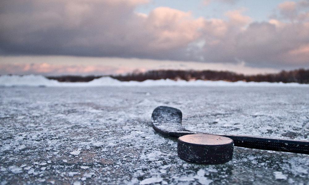 """Pond Hockey"" © Mike Wilkinson"