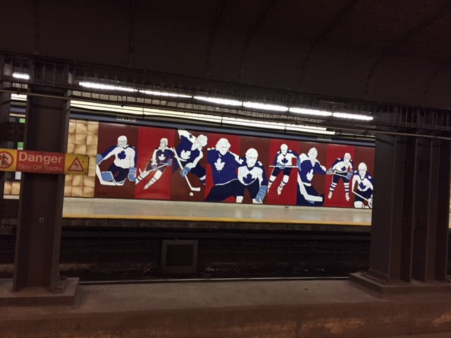 In Toronto there's hockey everywhere you look - even in the subway!