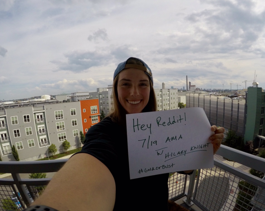 "Photo from Hilary Knight's July 19 tweet announcing her Reddit AMA (""Ask Me Anything"")"