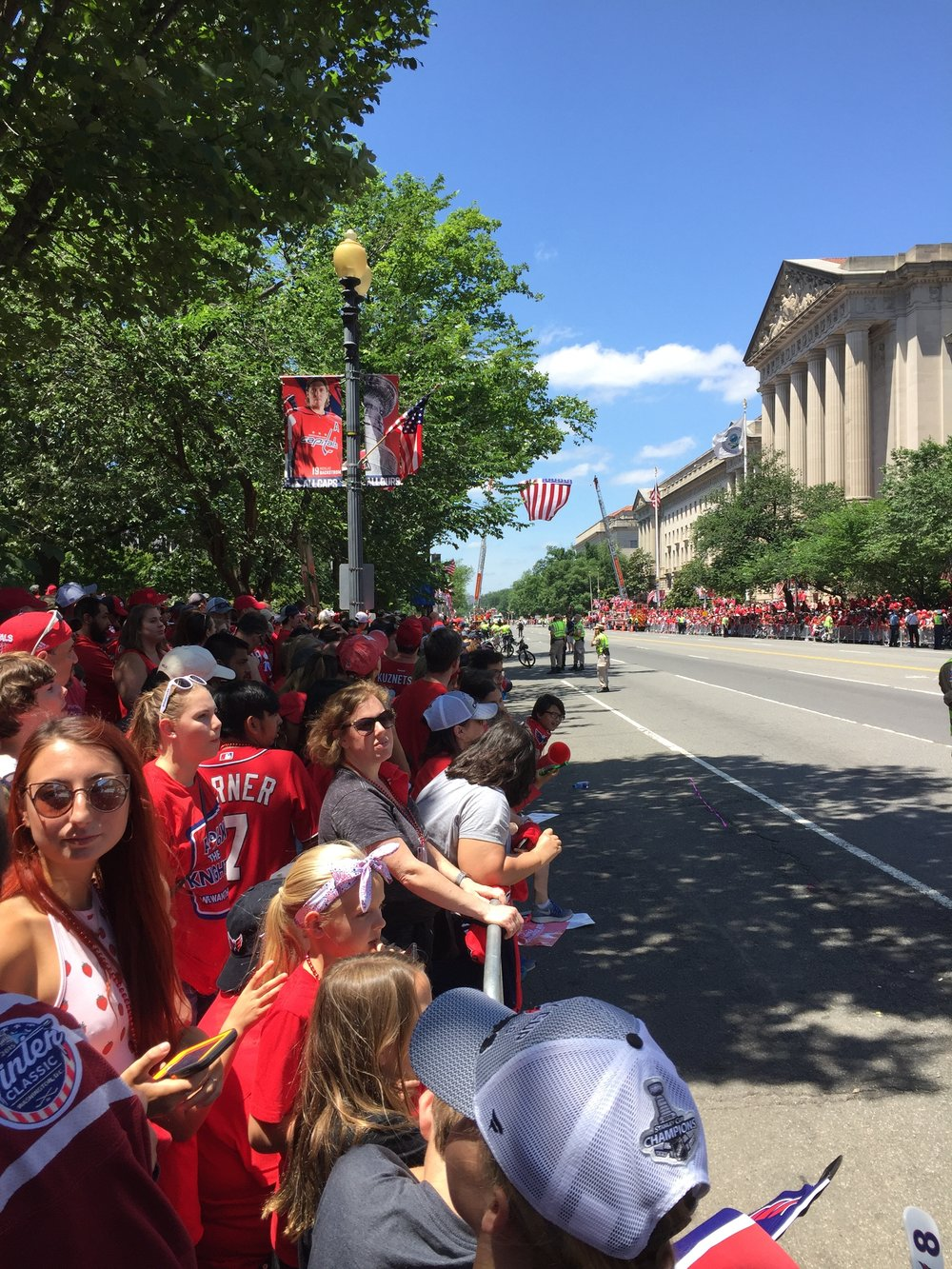 DC looked amazing! The streets were festooned with banners and flags.