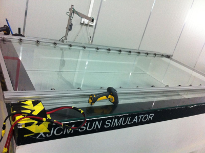 XJCM SUN SIMULATOR used to verify panel output