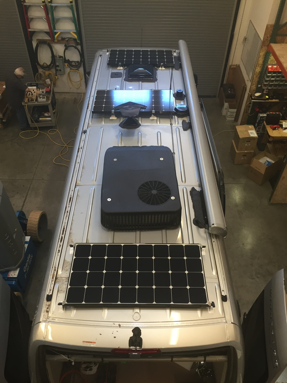 300W of solar panels