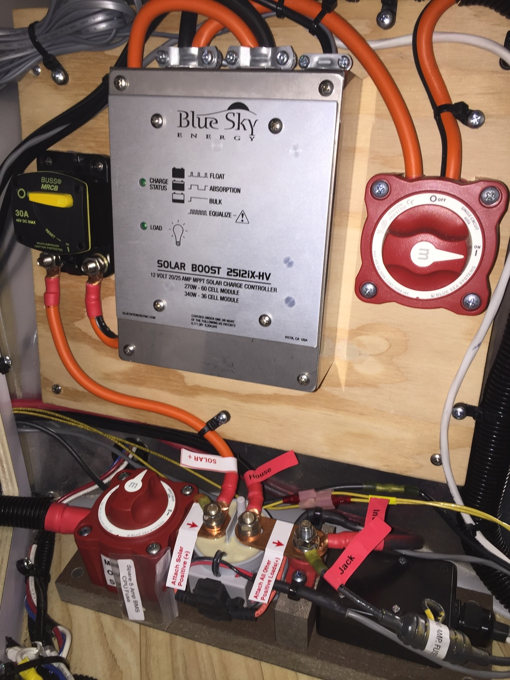Blue Sky 2512iX-HV MPPT Charge Controller and AMS Lithium BMS
