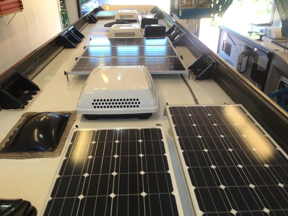1,120W of 160W solar panels