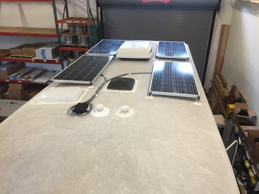 Four 160W Solar Panels