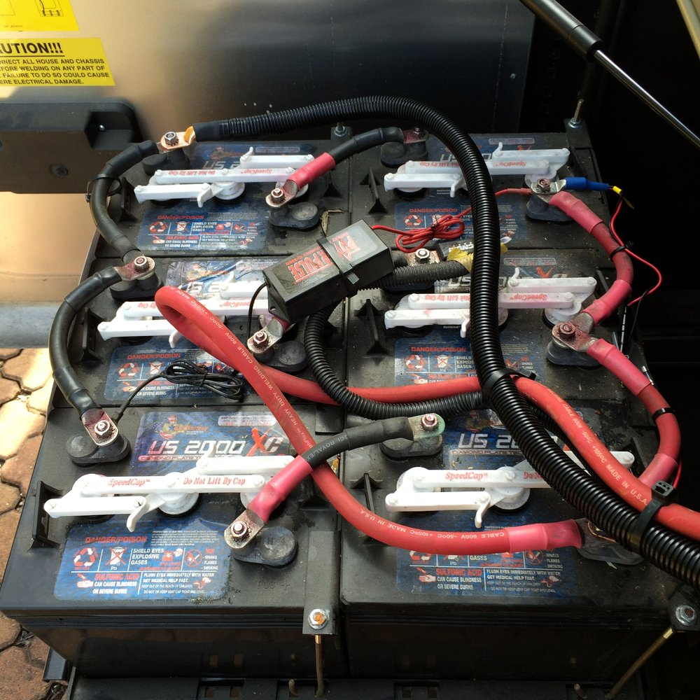 Existing batteries, soon to be replaced with Lithium