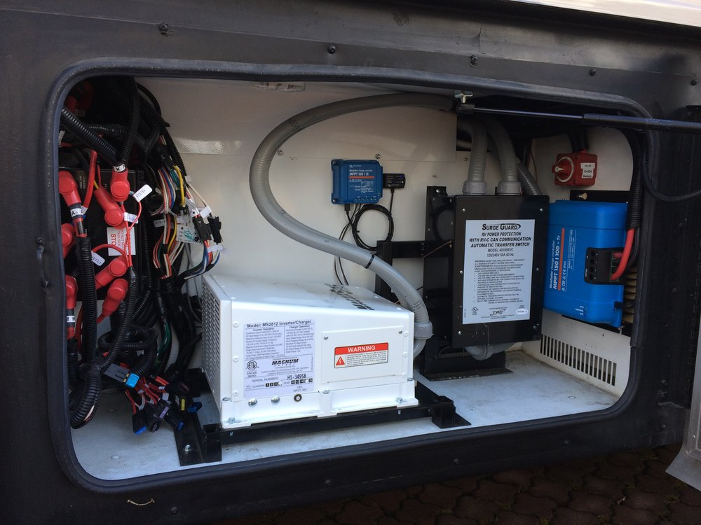 Magnum inverter with Victron charge controllers