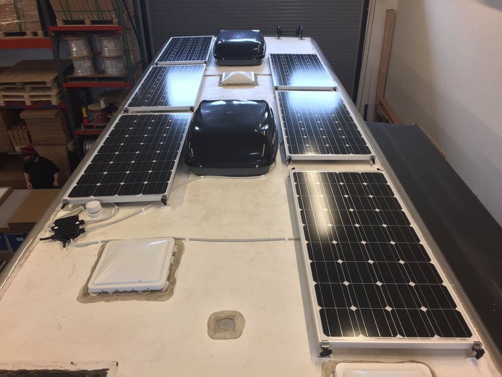 Equipment Added:   600Ah Signature Lithium Battery System 1x Victron MultiPlus 3000 Inverter 6x SF160 Solar Panels 1x Roof C-Box 1x SunRunner Victron 150/70A System Core